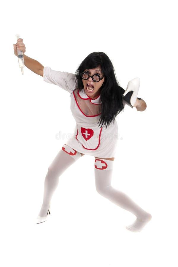 Enfermeira de Zoombie imagens de stock