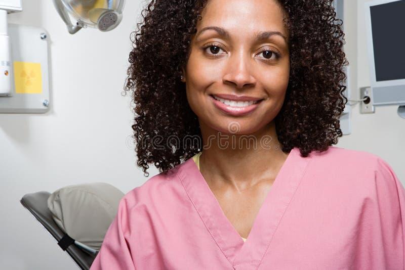 Enfermeira dental imagens de stock
