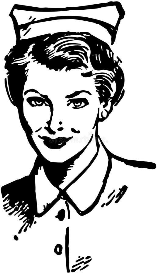 Enfermeira diplomada ilustração do vetor