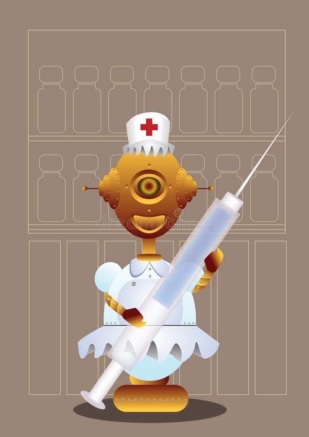 Enfermeira do robô ilustração do vetor