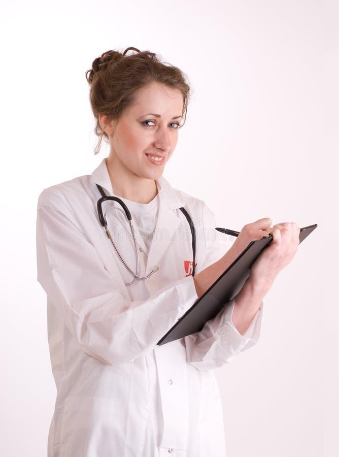 Enfermeira. Doutor fêmea novo. imagem de stock