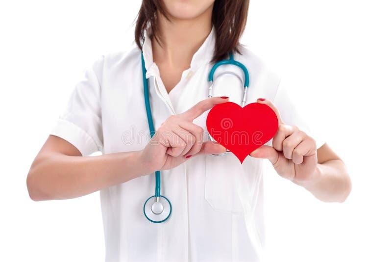 Enfermeira e coração fotografia de stock