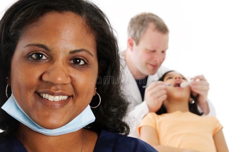 Enfermeira e dentista fotografia de stock royalty free