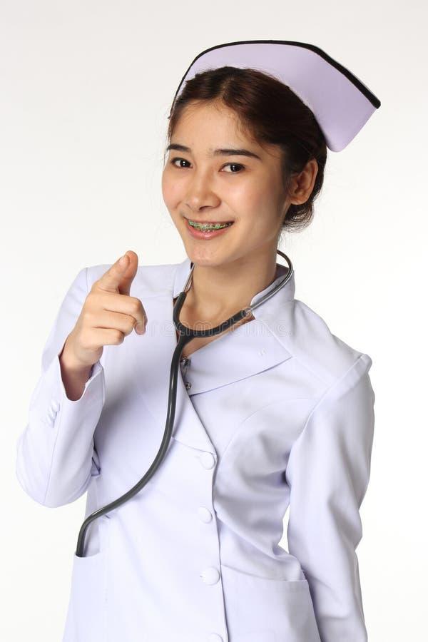 Enfermeira e estetoscópio imagem de stock royalty free