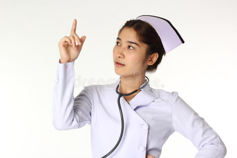 Enfermeira e estetoscópio foto de stock royalty free