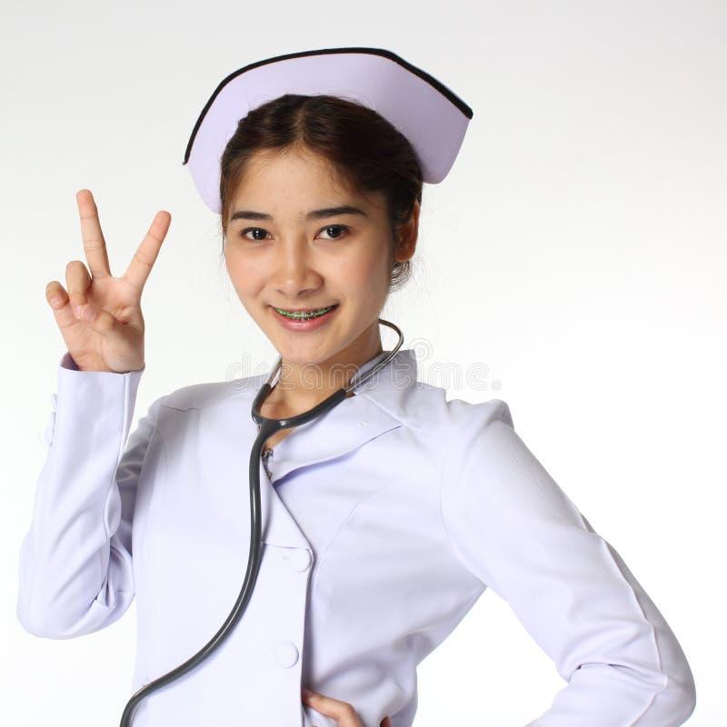 Enfermeira e estetoscópio fotos de stock royalty free