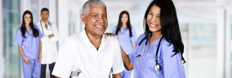 Enfermeira e paciente fotos de stock royalty free
