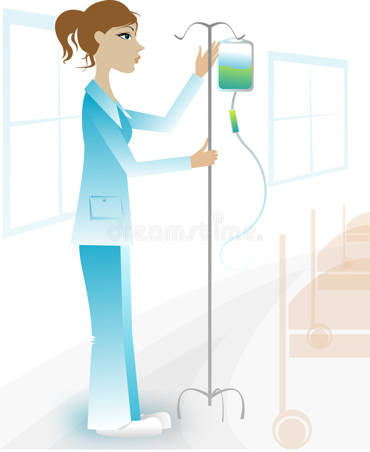 Enfermeira encantadora no hospital ilustração royalty free