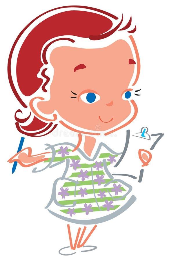 Download A Enfermeira Esfrega Dentro Ilustração do Vetor - Ilustração de trabalhador, mostra: 10063036