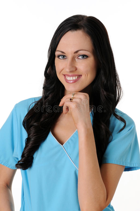 A enfermeira esfrega dentro fotografia de stock