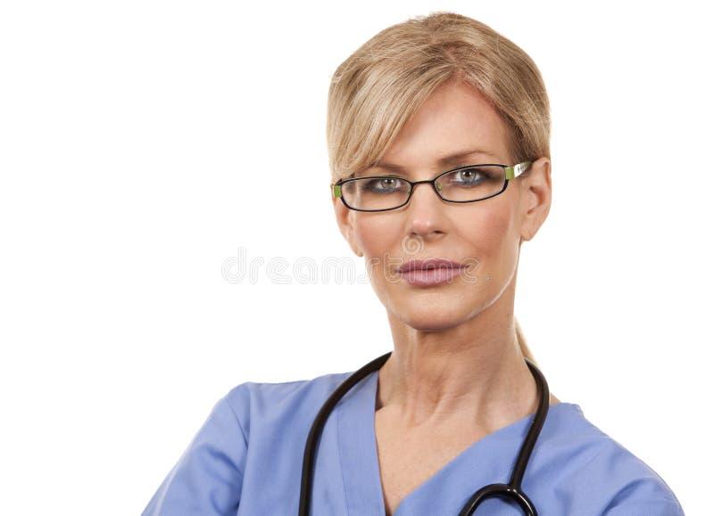 Enfermeira fêmea madura imagens de stock royalty free