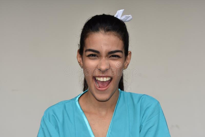 Enfermeira fêmea nova parva foto de stock royalty free