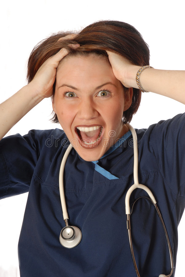 Enfermeira forçada foto de stock