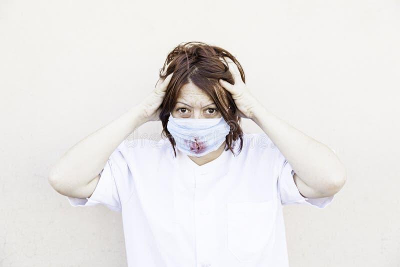 Enfermeira louca foto de stock