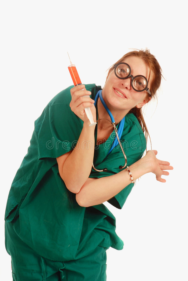 Enfermeira louca fotos de stock