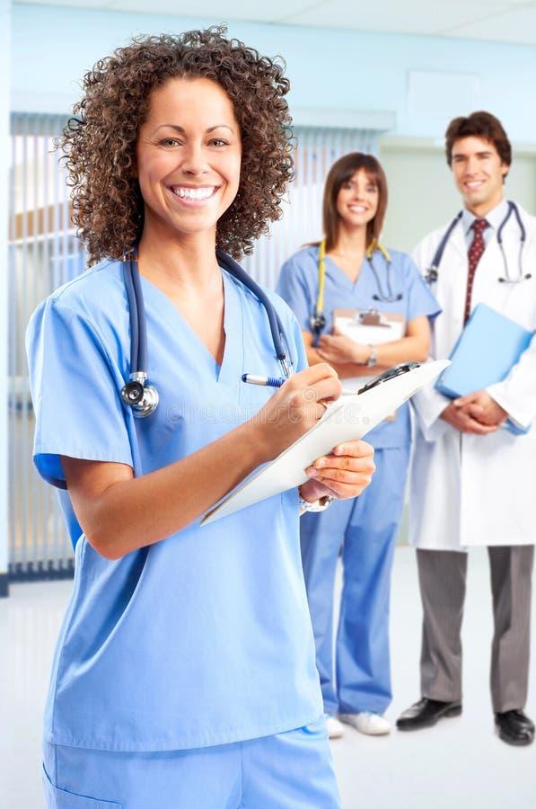 Enfermeira médica de sorriso fotografia de stock