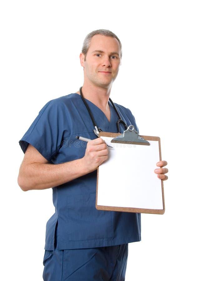 Enfermeira masculina fotos de stock royalty free