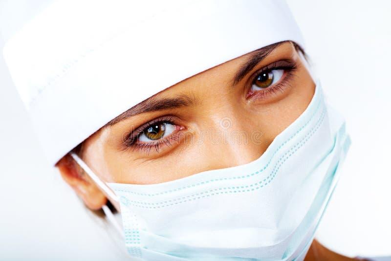 Enfermeira na máscara fotos de stock royalty free
