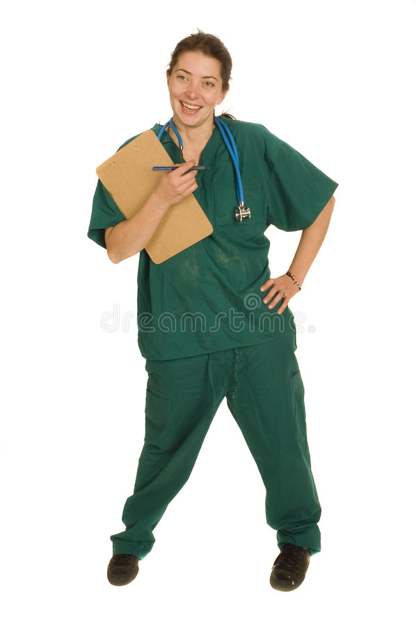 Enfermeira ou doutor fêmea foto de stock royalty free