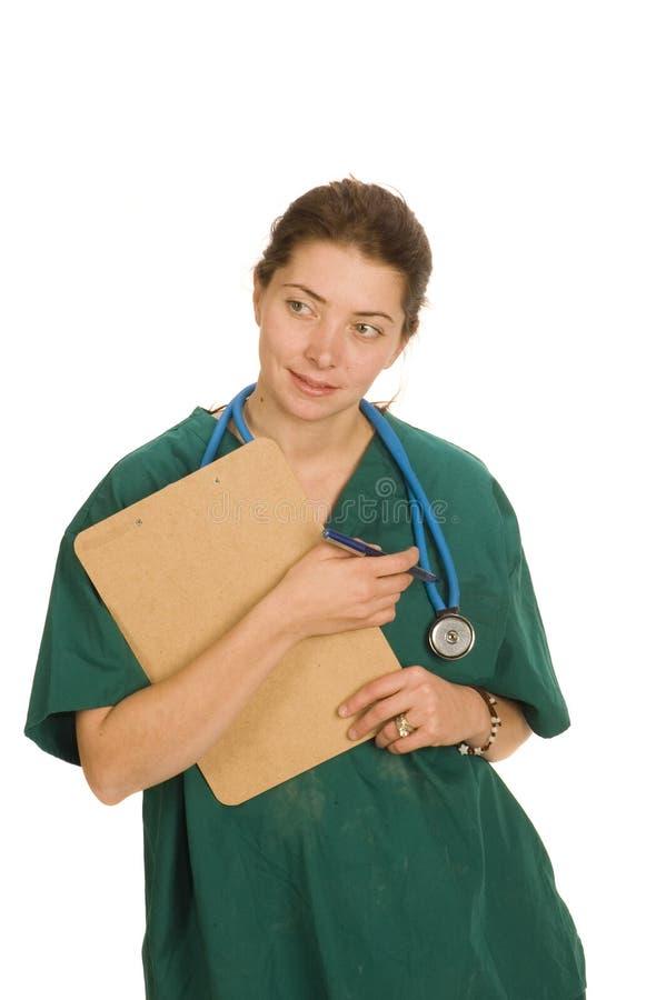 Enfermeira ou doutor fêmea imagens de stock royalty free