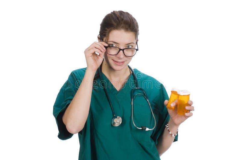 Enfermeira ou doutor masculino imagens de stock royalty free