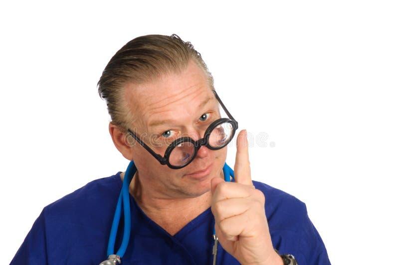 Enfermeira ou doutor masculino fotografia de stock