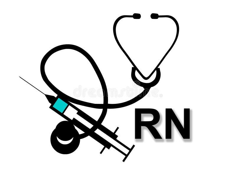 Enfermeira registada ilustração royalty free