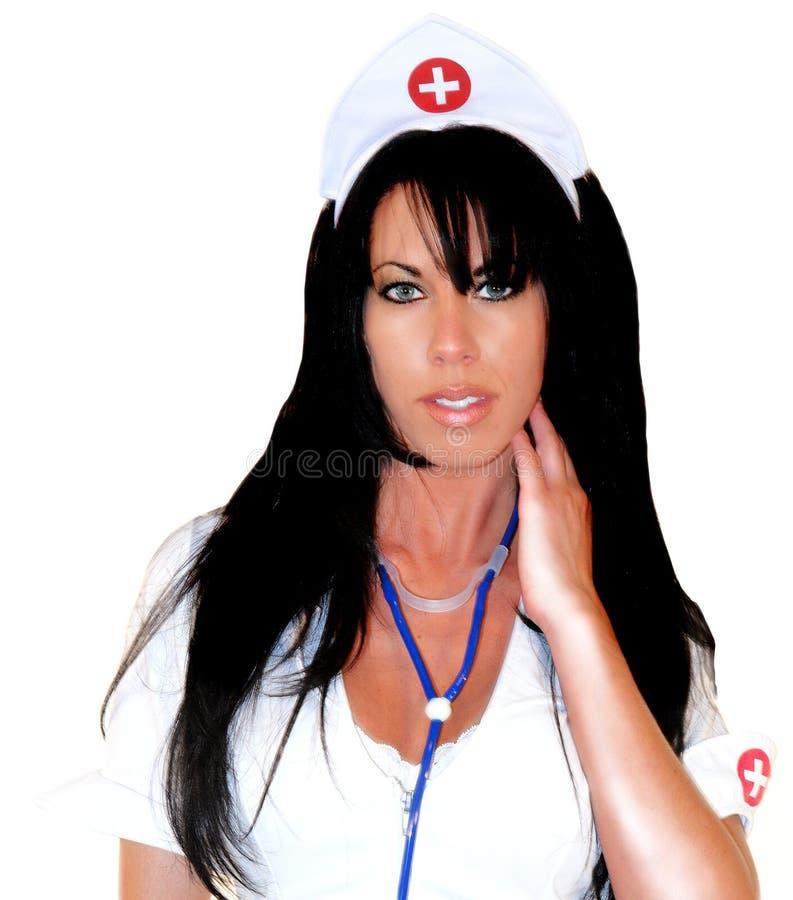 Enfermeira 'sexy' 3 da fantasia imagem de stock royalty free