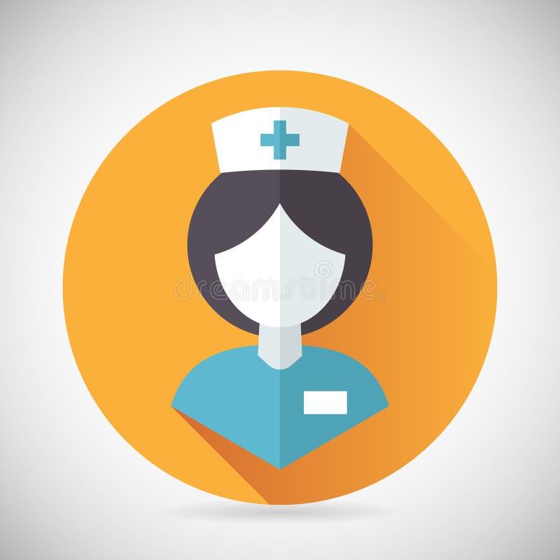 Enfermeira Symbol Female Physician do tratamento médico ilustração stock