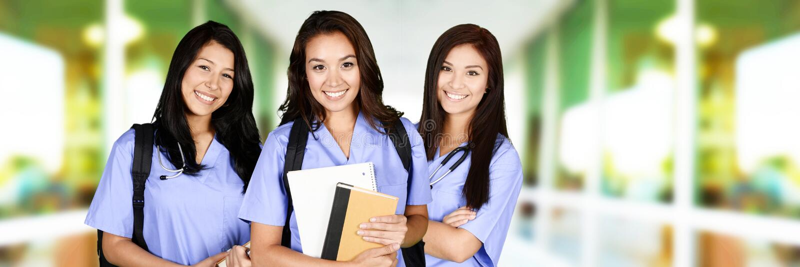 Enfermeiras na escola fotos de stock royalty free