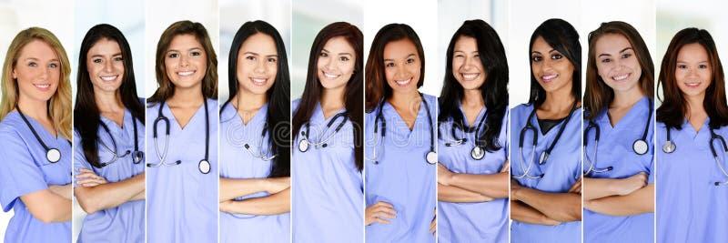 Enfermeiras no hospital fotografia de stock