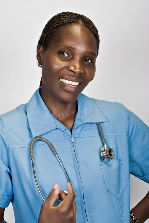 Enfermera africana imágenes de archivo libres de regalías