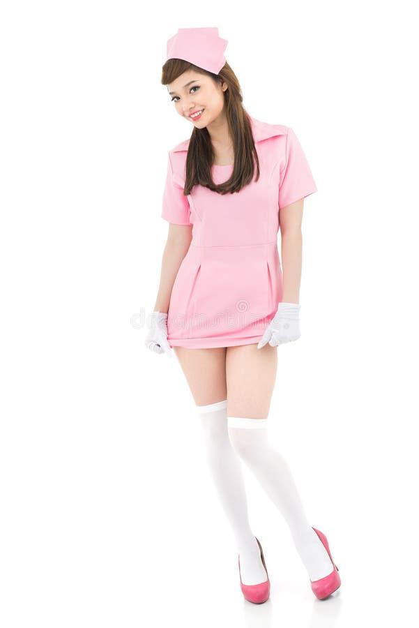 Enfermera alegre imagen de archivo libre de regalías