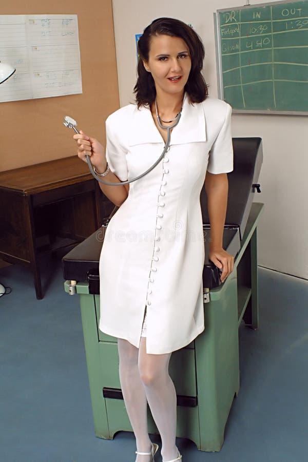Enfermera cómoda fotografía de archivo