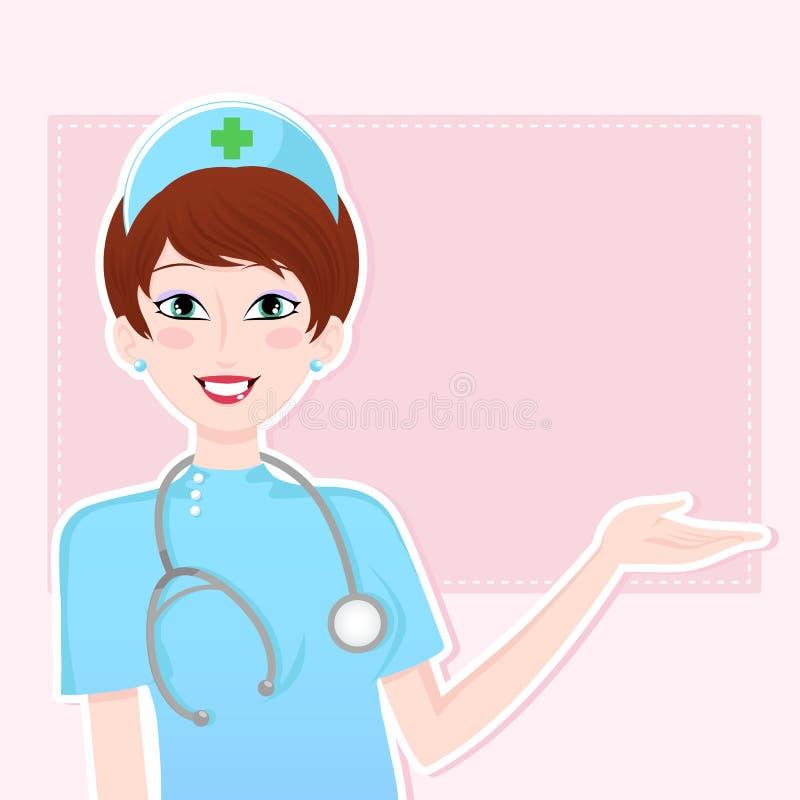Enfermera cómoda stock de ilustración