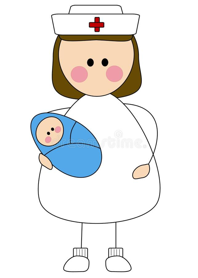 Enfermera con el bebé fotos de archivo