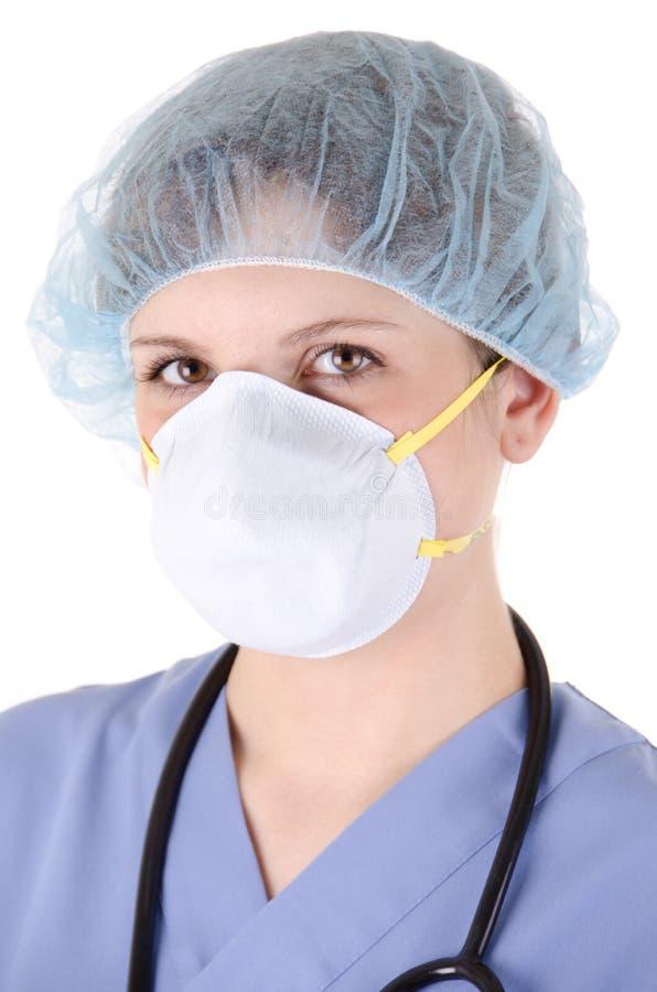 Enfermera de los jóvenes con la máscara fotos de archivo libres de regalías