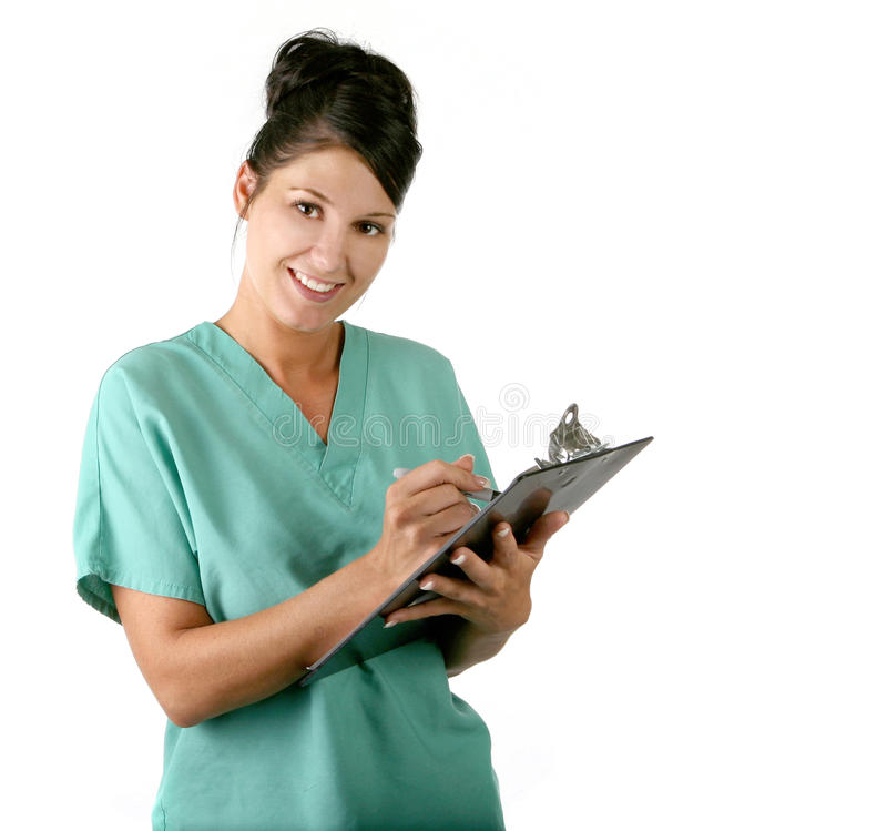 Enfermera de sexo femenino joven fotos de archivo libres de regalías