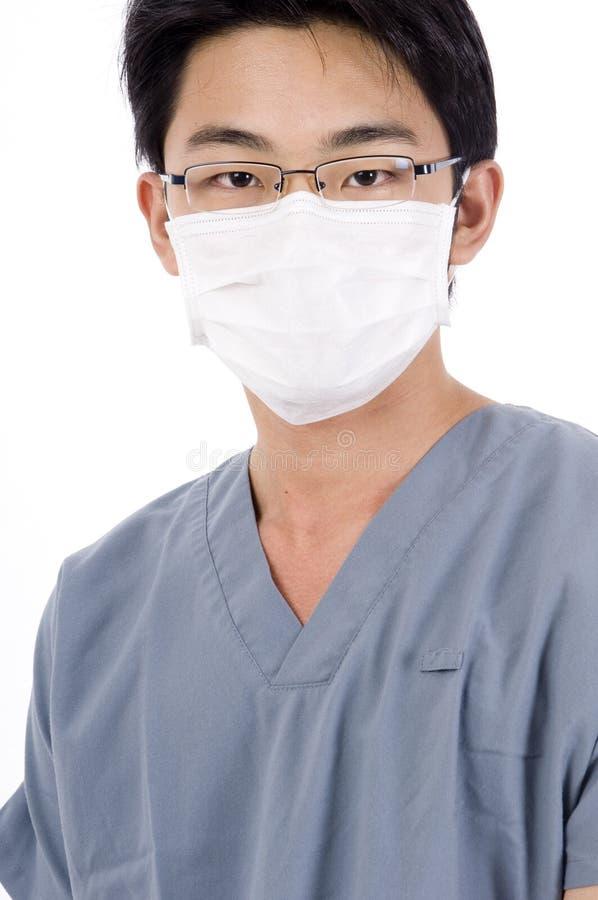 Enfermera de sexo masculino foto de archivo libre de regalías