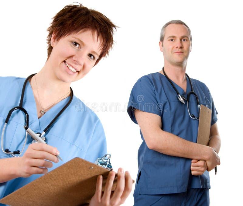 Enfermera de sexo masculino foto de archivo