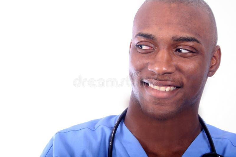 Enfermera de sexo masculino africana de Amrican foto de archivo libre de regalías