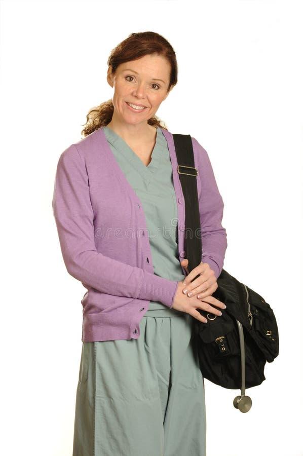Enfermera del cuidado médico casero imagen de archivo