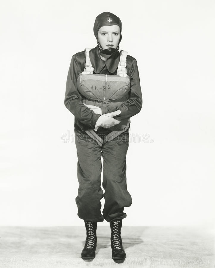 Enfermera del paracaídas fotos de archivo libres de regalías