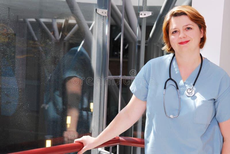 Enfermera en un hospital fotografía de archivo