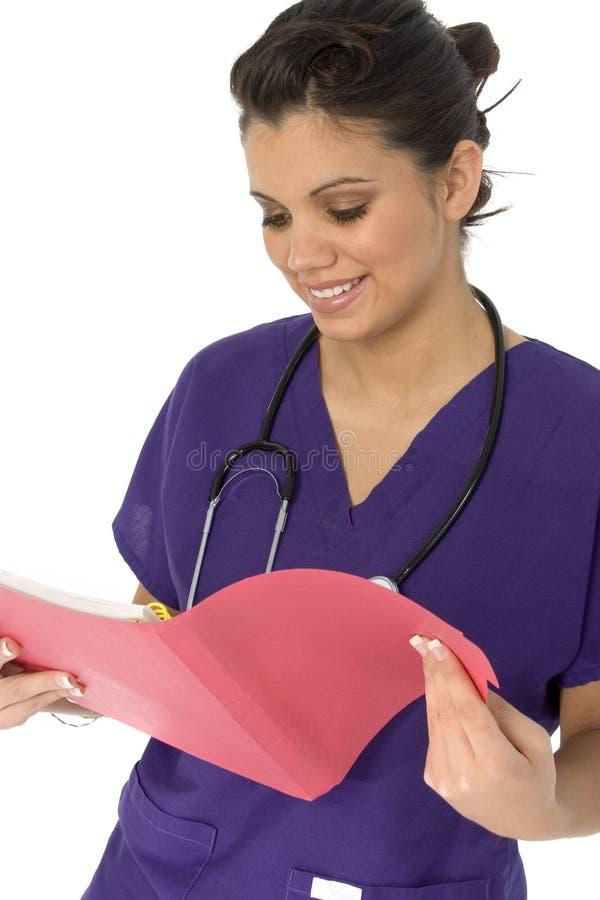 Enfermera hispánica hermosa fotos de archivo