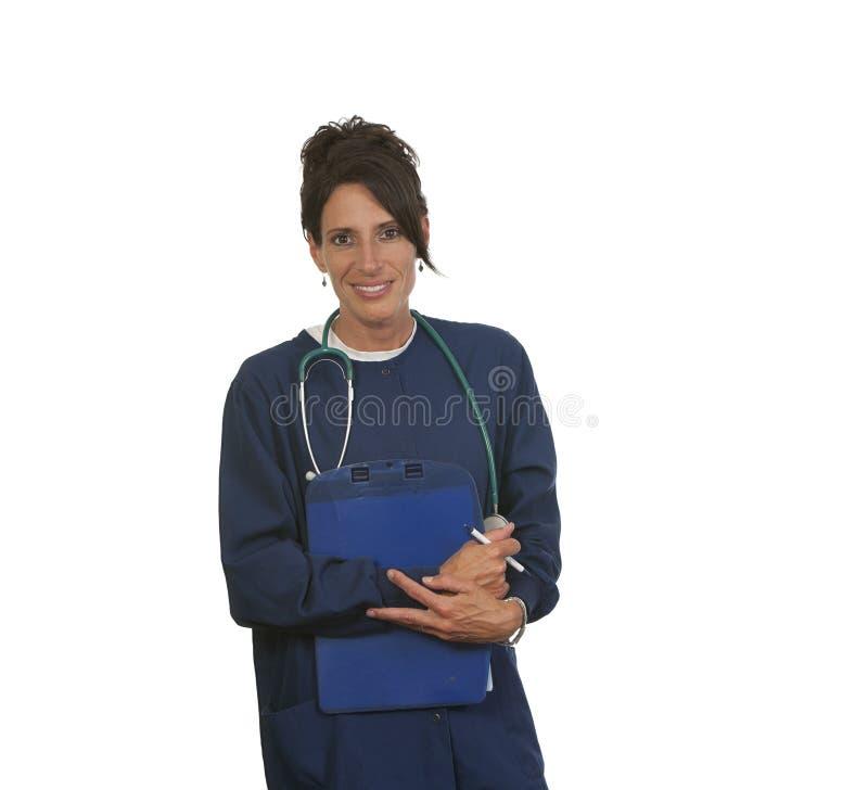Enfermera médica feliz fotografía de archivo