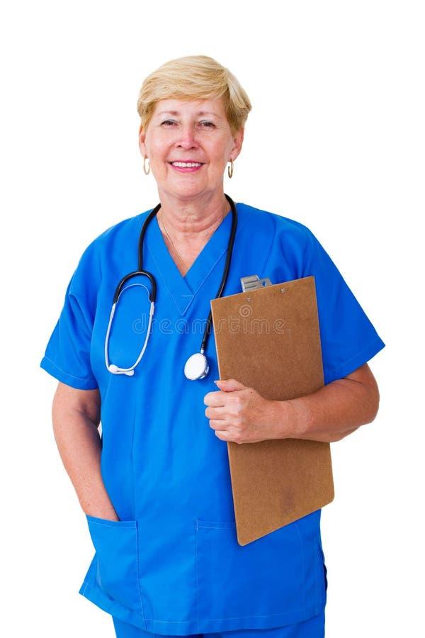 Enfermera mayor foto de archivo