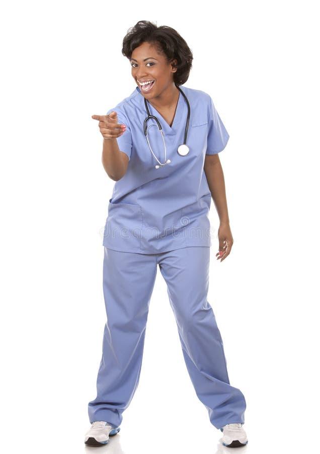 Enfermera muy emocionada foto de archivo libre de regalías