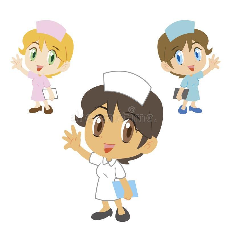 Enfermera personaje de dibujos animados ejemplo del