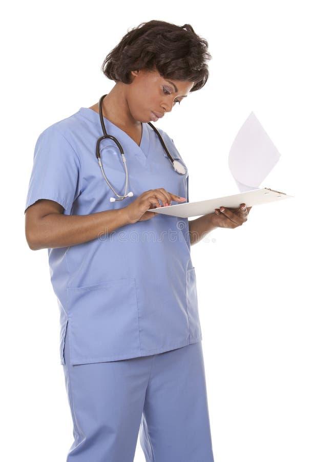 Enfermera que usa el estetoscopio imágenes de archivo libres de regalías